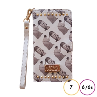 YOOY STAR WARS PRINT STUDS BOOK Beige for iPhone 7/6s/6