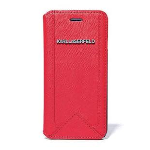 KARL LAGERFERD Classic for iPhone6/6s Booktype Case  Red