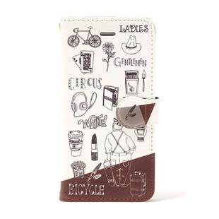BLUEWHITE CIRCUS Bordeaux 手帳型 ケース for iPhone 7