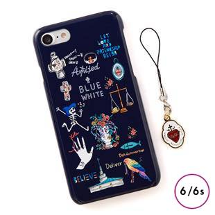 [ブルーホワイト]Amijed+BLUEWHITE Navy for iPhone 6/6s