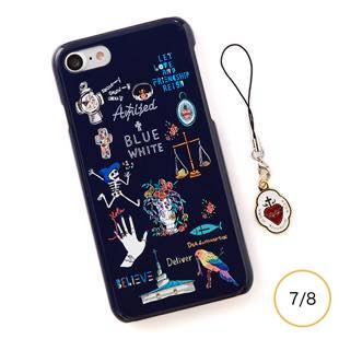 [ブルーホワイト]Amijed+BLUEWHITE Navy for iPhone 7/8