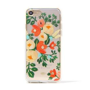 RIFLE PAPER CO. Clear Peach Blossom for iPhone 8/7