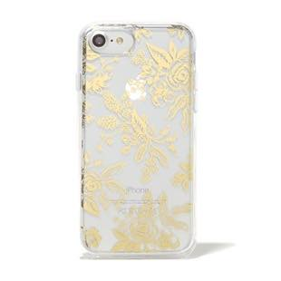RIFLE PAPER CO. Clear Gold Floral Toile for iPhone 7/6s/6