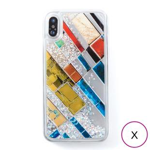 [アイカバー]icover Sparkle case Stone Art for iPhone X