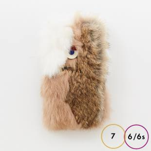 [アコモデ]ACCOMMODE Crazy GUILLAUME Rabbit fur for iPhone 7/6s/6