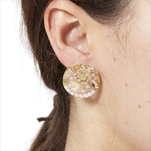 [ナチュール]round flower pierce