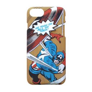 YOOY MARVEL COMIC PARTS SINGLE CAPTAIN AMERICA for iPhone 8 / 7 / 6s / 6