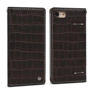 DESIGN SKIN Wetherby・Premium Croco Dark Brown for iPhone7
