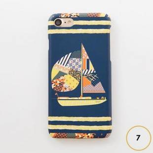 [ヴィカマニプリコレクション]vikka manipuri case collection patchwork yacht for iPhone 7