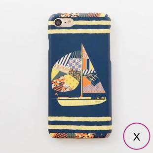 [ヴィカマニプリコレクション]vikka manipuri case collection patchwork yacht for iPhone X