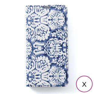 [ゼヌス]Zenus Denim Paisley Diary for iPhone X
